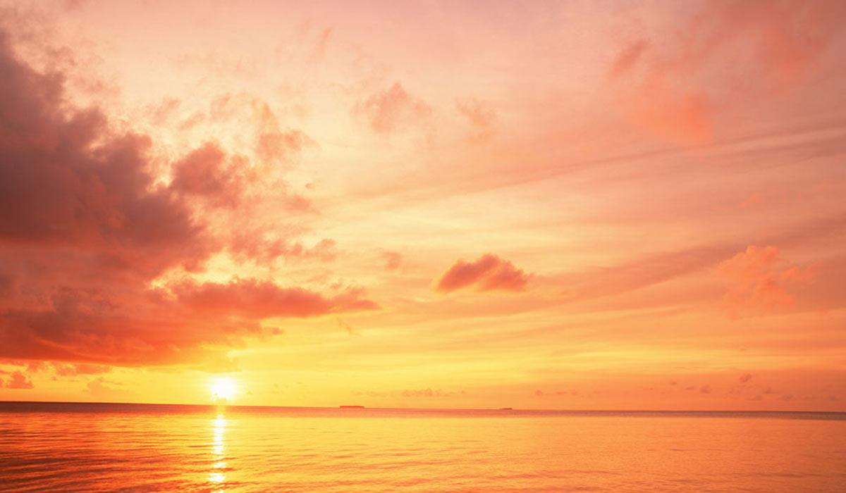 kamala quale sunrise over ocean acupunture moon and lotus